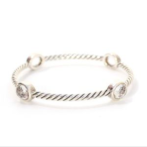 David Yurman White Topaz Bangle Bracelet